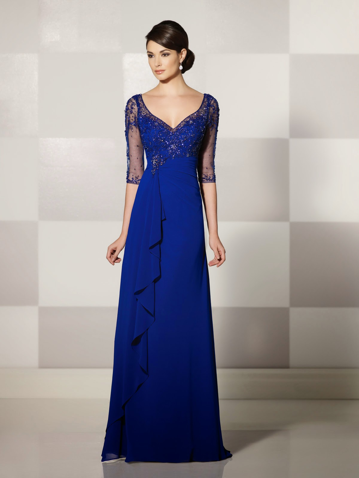 Mother of the Bride Dresses by Cameron Blake Fall 2014 dark blue