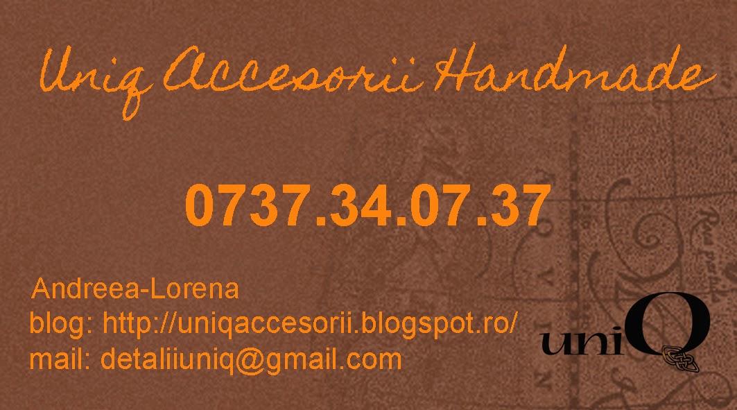 Uniq accesorii handmade - contact