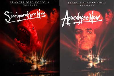 parodie affiches de films avec des requins apocalypse now