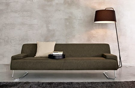 modern couch with compact design