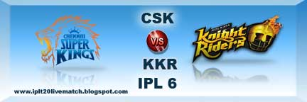 CSK vs KKR Live Streaming Video and Highlight Video Match