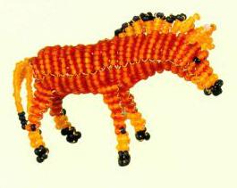 Животные из бисера лошадка пони объемная