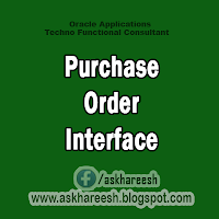 Purchase Order Interface, AskHareesh.blogspot.com