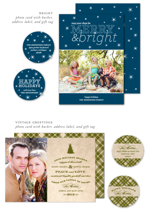 custom christmas holiday photo cards belletristics brightside prints