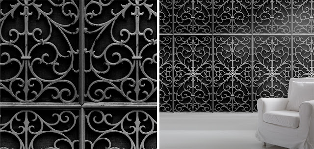 Young & Battaglia wrought iron wallpaper