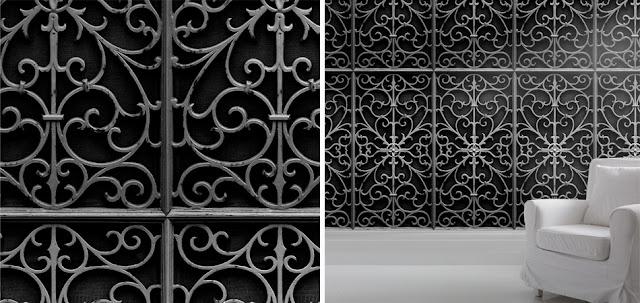 Young & Battaglia wrought iron wallpaper