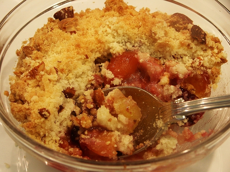 Moveable Feasts: Cherry, Blackberry and Almond Crisp
