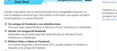 configurar chat facebook en outlook