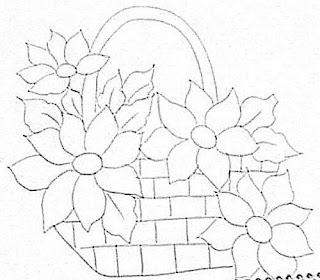cesta com girassol