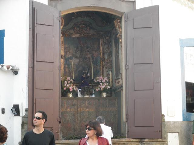 Capela em São João Del Rei por onde passa a Via Sacra