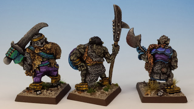 IC601 Black Orcs 10-12, Citadel (sculpted by Bob Olley, 1988) rear
