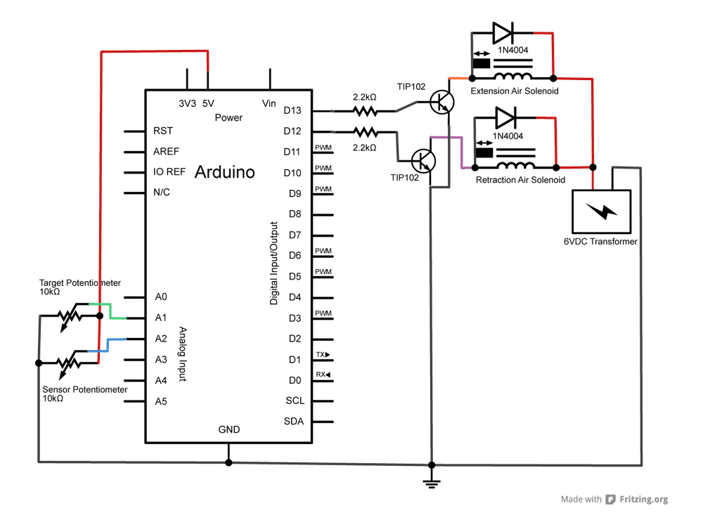 david bynoe works in progress arduino controlled pneumatic servo circuit diagram and breadboard