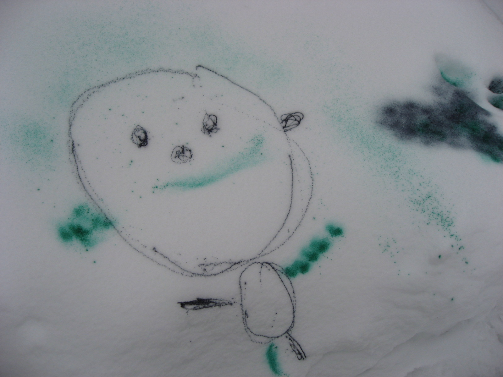 Sticky Handprints: Snow Spray Paint