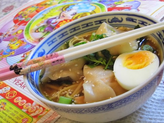 ... | UK Food Blog | Leicestershire : sesame salmon wonton noodle soup