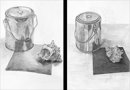 横浜美術学院の中学生教室 美術クラブ どこまで描けるか!「細密デッサン」完成作品3