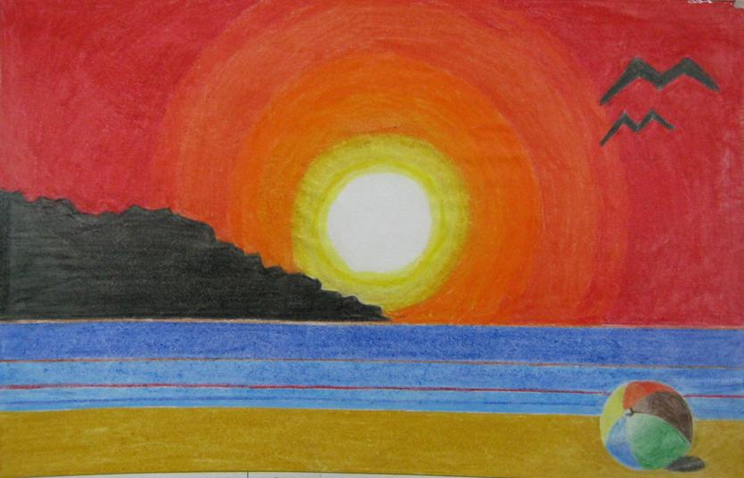 Educaci n art stica grado octavo ejercicios tercer - Paisaje con colores calidos ...