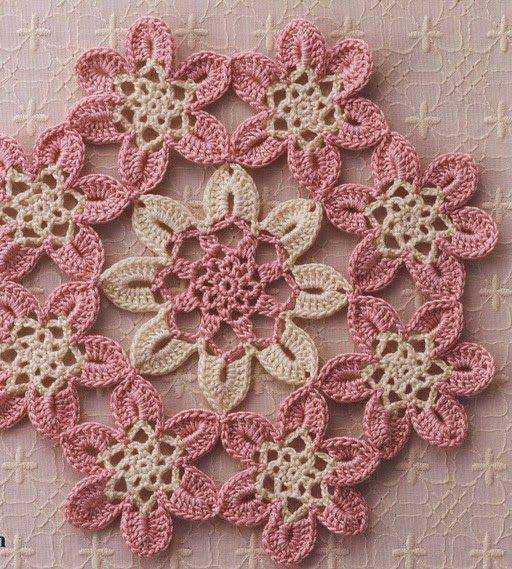 Tapete de Flores tejido a Crochet