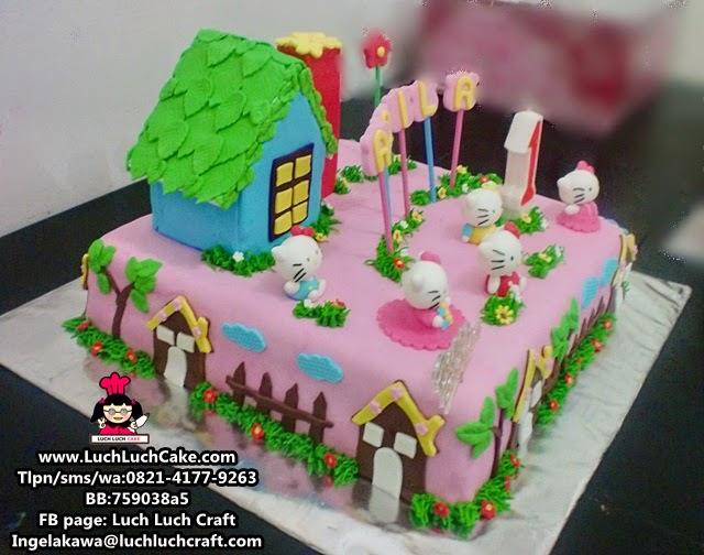 kue tart ulang tahun hello kitty di surabaya - sidoarjo - gresik