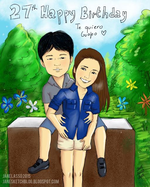 Caricatura para pareja