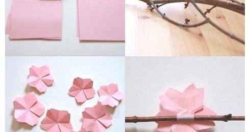 DIY Origami Sakura