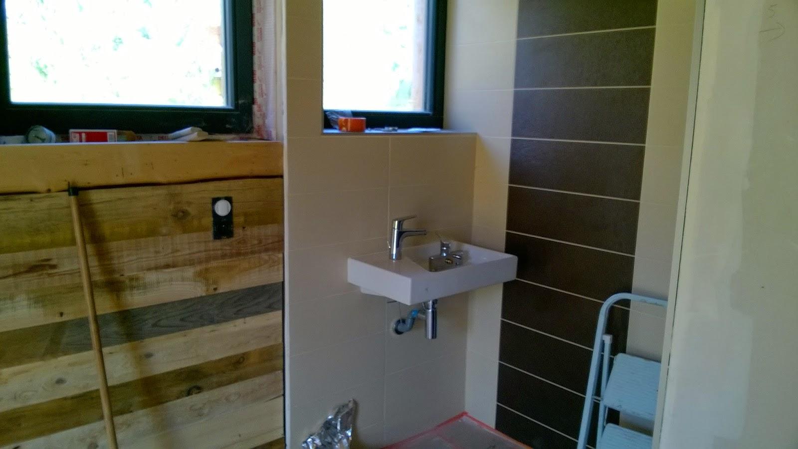 Concept carrelage cr ation salle d 39 eau marron et - Salle d eau douche italienne ...