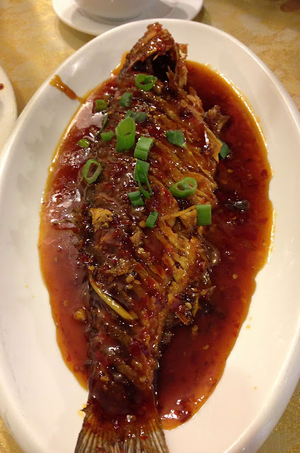 Stitch and Bear - M&L Szechuan Restaurant - Deep fried sea bass