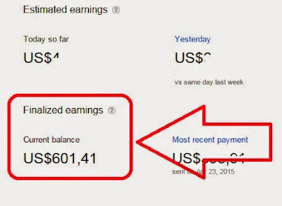 gambar penghasilan google Adsense