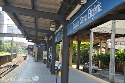 Metrô de Belo Horizonte para estação Santa Efigênia