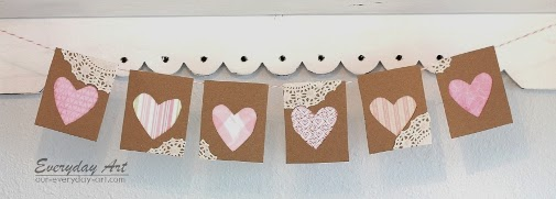 http://www.our-everyday-art.com/2014/02/paperboard-valentines-heart-banner.html