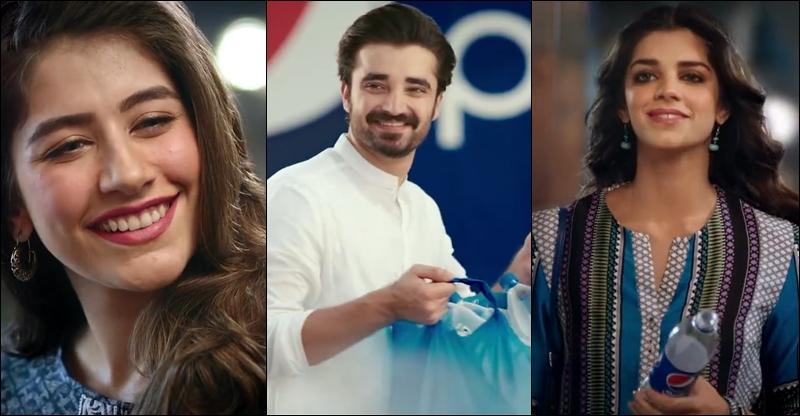 Pepsi ramadan commercial starring hamza ali abbasi sanam for Roohi bano latest pics