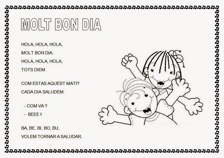 Cantores infantiles hola hola hola molt bon dia for Cancion infantil hola jardin