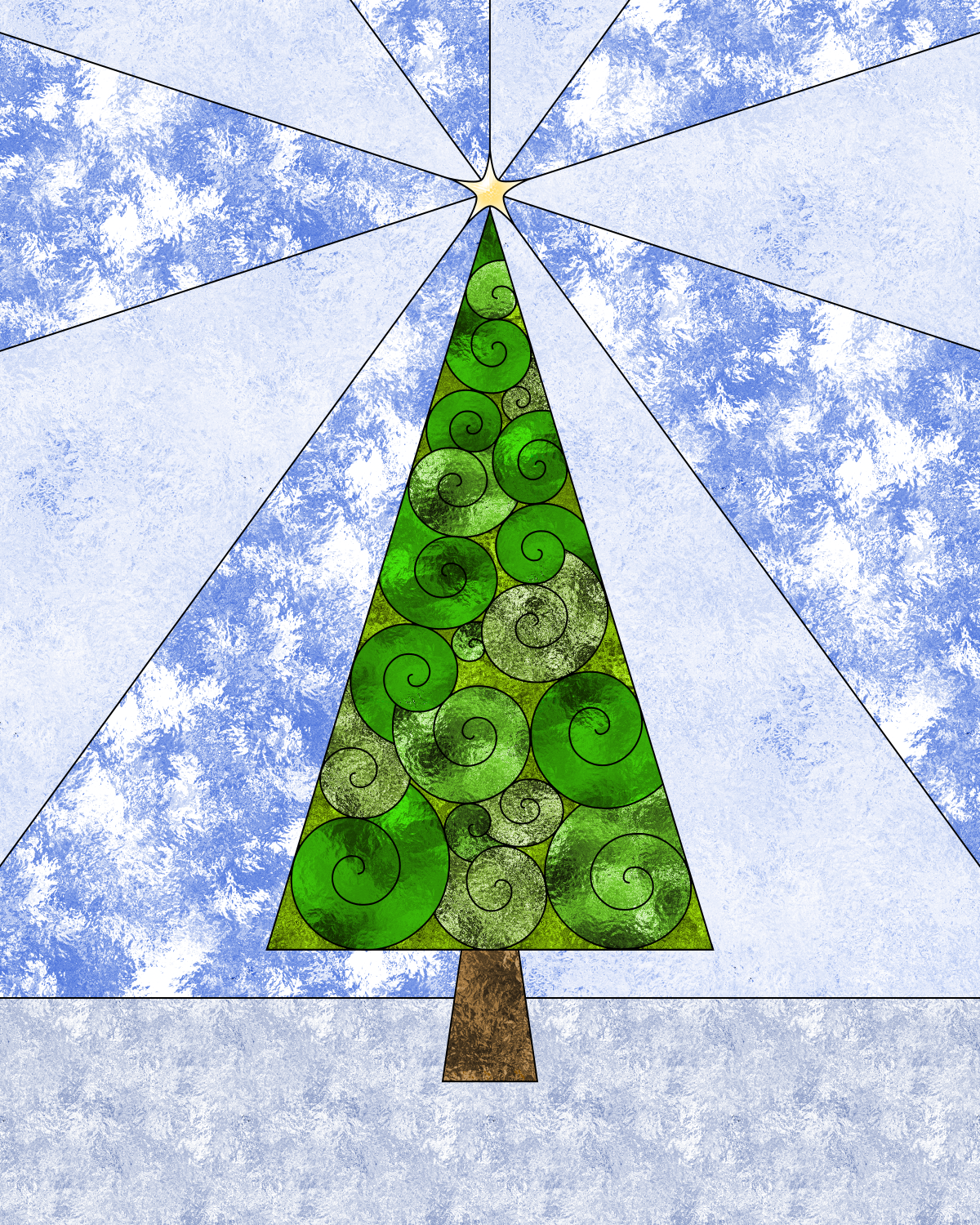 Don\'t Eat the Paste: Christmas Tree coloring page
