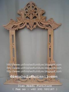 klasik furniture pigura klasik ukir supplier pigura klasik mahoni unfinished pigura ukir jepara mentah