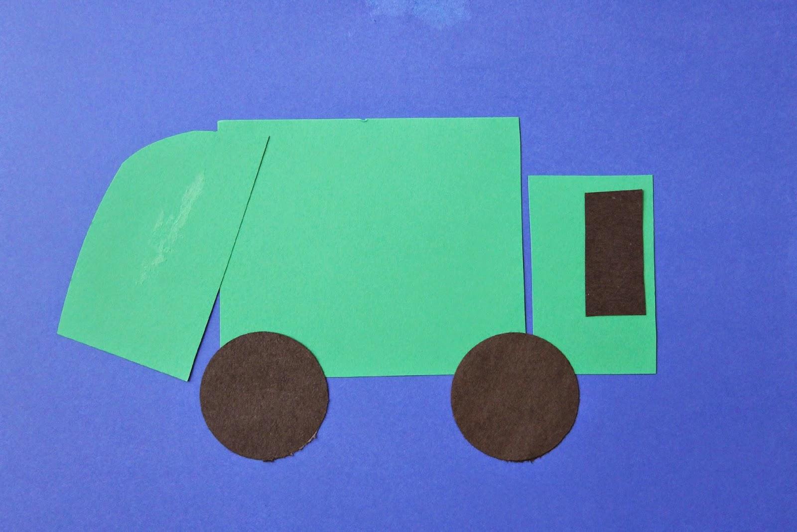 Garbage Truck Craft For Preschoolers