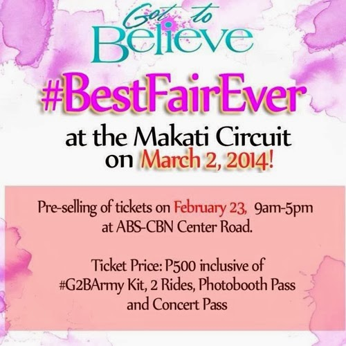 Got to Believe Best Fair Ever on March 2 at Circuit Makati (Ticket details)