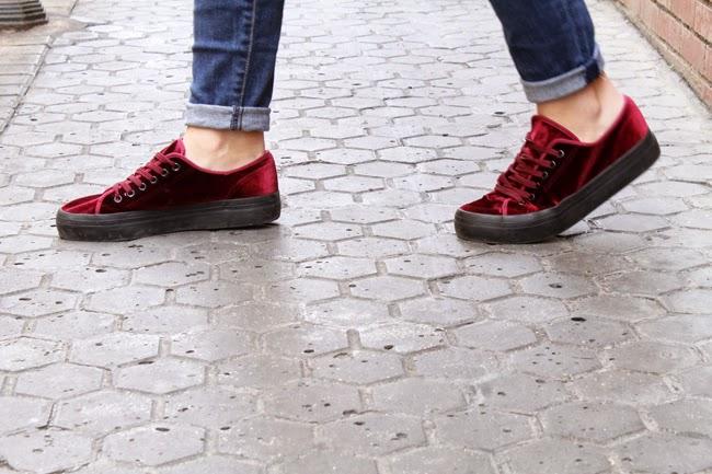 Velvet sneakers Toks