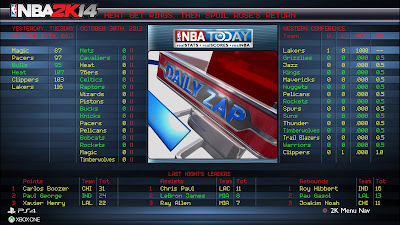 NBA 2K14 NBA Today Next-Gen