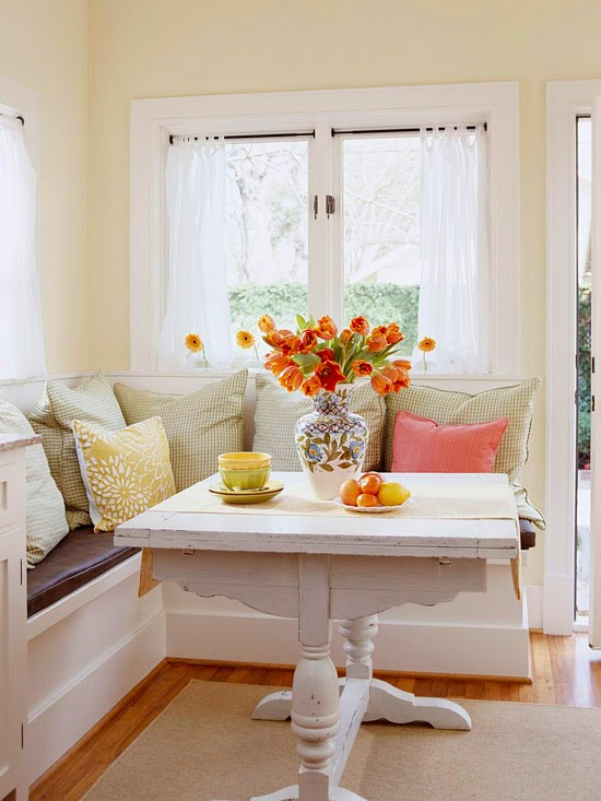 breakfast nook provides an easy opportunity to recycle and reuse ...