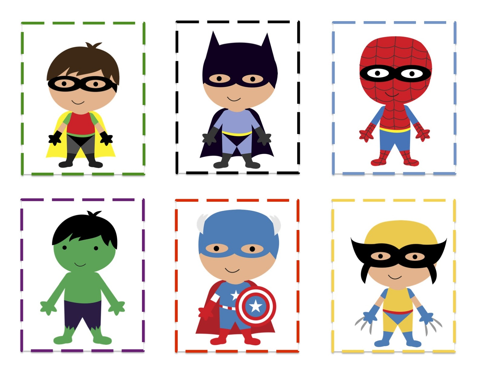 Current image intended for super hero printable