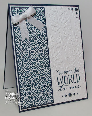 ODBD The Earth and Vintage Pattern Mini 1 Background, Card Designer Angie Crockett