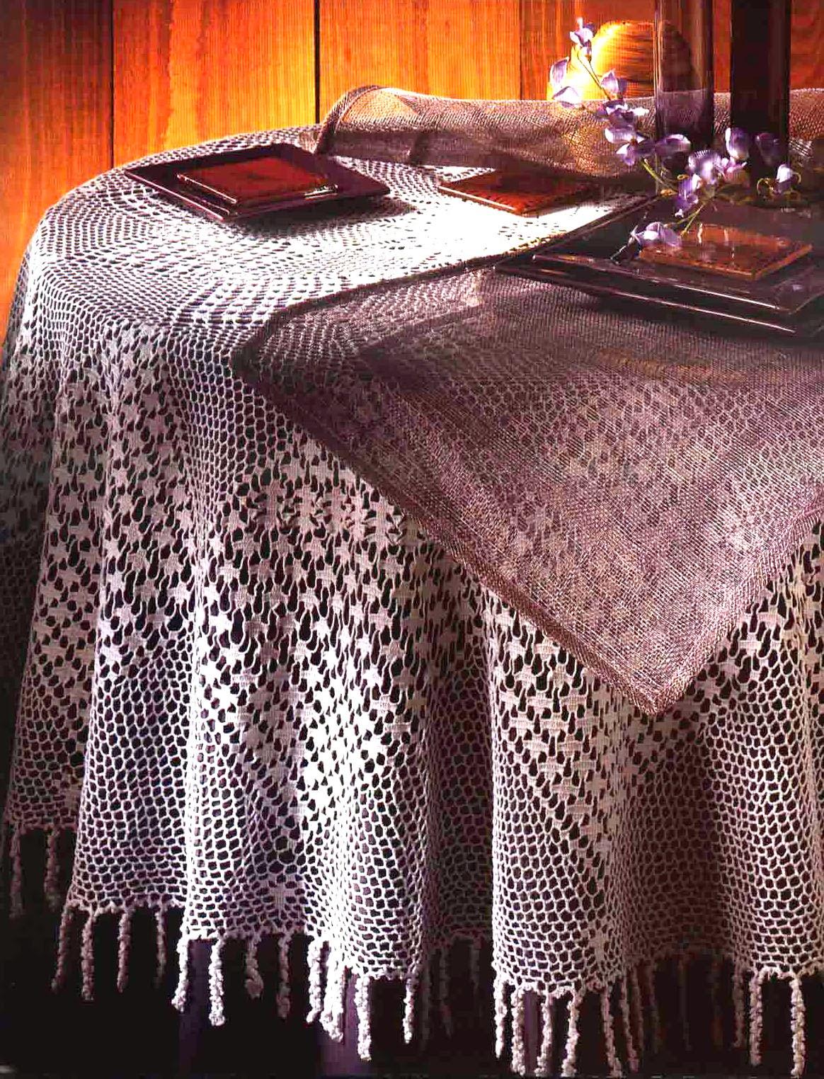 Tejidos artesanales en crochet mantel para mesa redonda - Mantel para mesa exterior ...