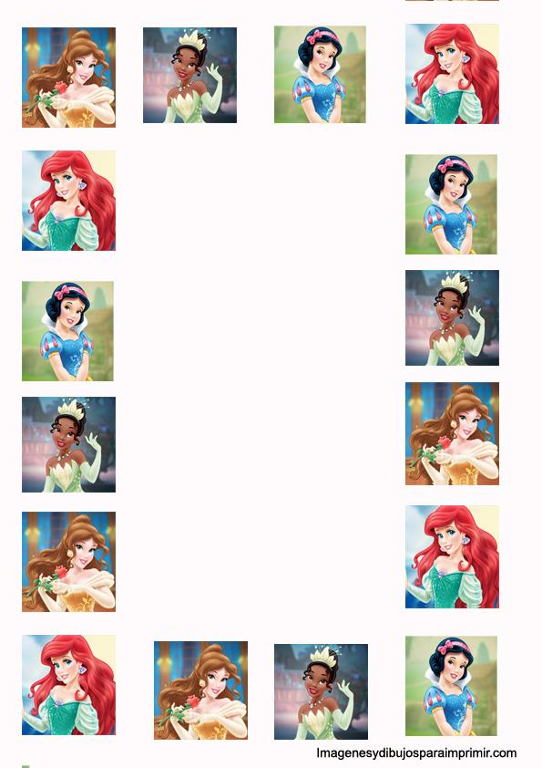 Paper Print disney princesses