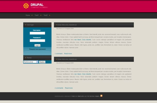 Corporate Business Grey Free Drupal Style Theme