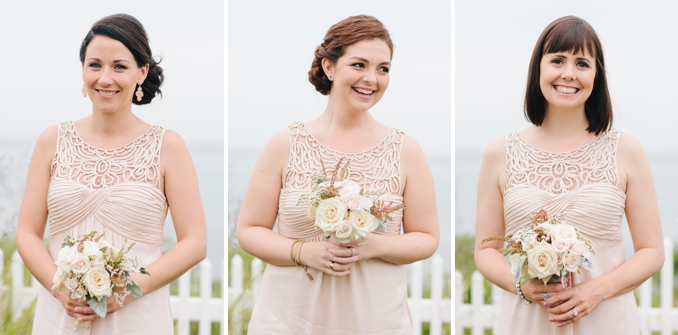 gorgeous bridesmaids wearing pale pink dresses photos by STUDIO 1208