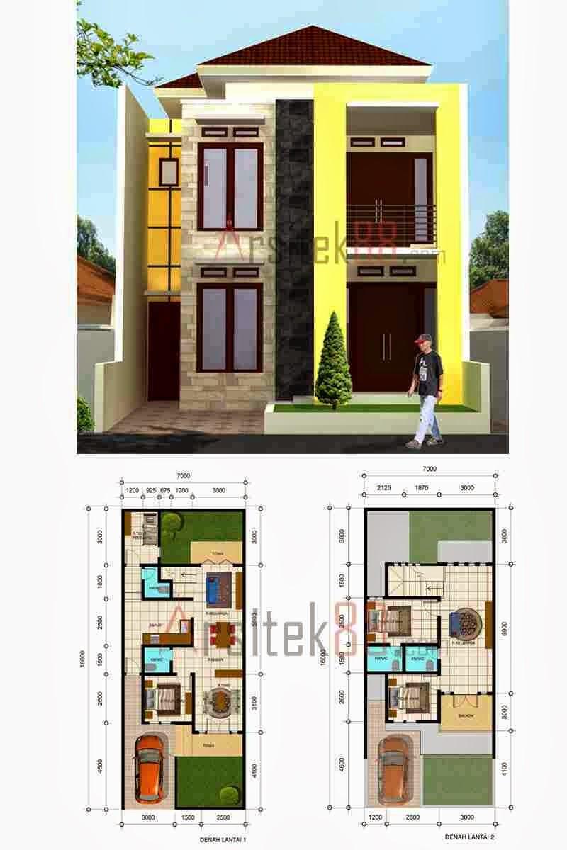 Desain Rumah Minimalis 1 Dan 2 Lantai Untuk Type 36 Dan 45
