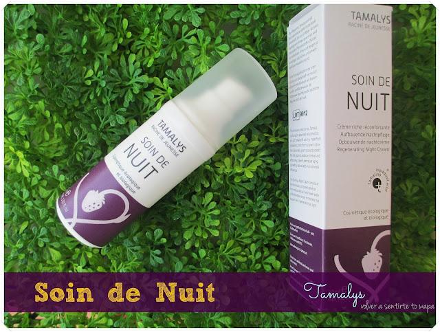 Soin de Nuit, la Crema de Noche de TAMALYS {review}