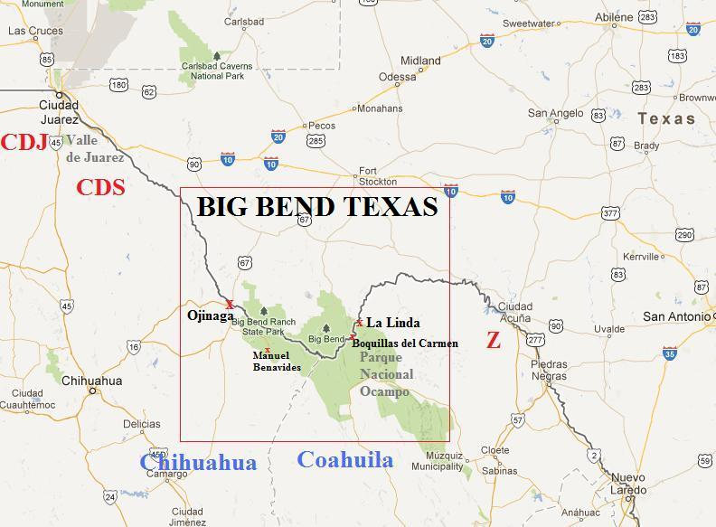 Big Bend Texas The Drug War Mexican Drug Cartels Violence And - Big bend national park map us
