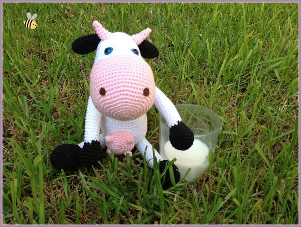 Vaca Amigurumi, Patron Gratis Aprender manualidades es ...