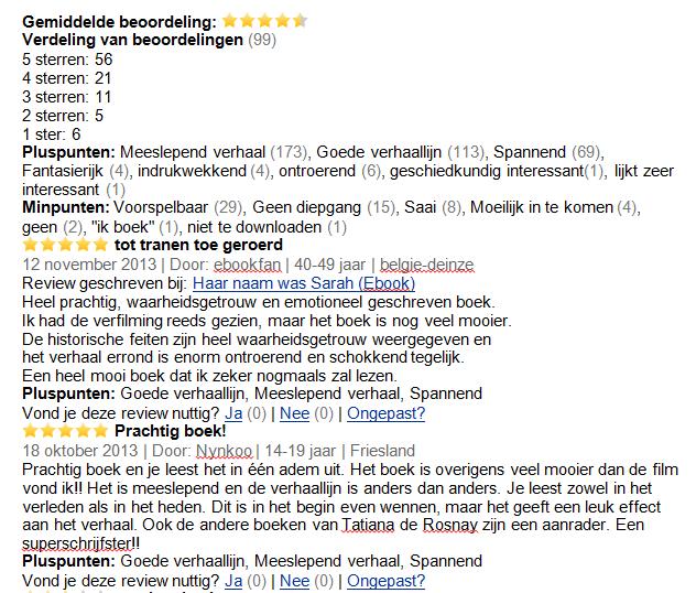 Citaten Uit Haar Naam Was Sarah : Welkom op everything nl inhoudelijk verslag v opdracht