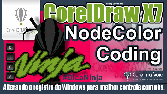 Aprimorando nós no CorelDraw X7 mudar Registros do Windows